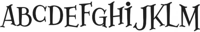 Lazarrous ligature otf (400) Font LOWERCASE
