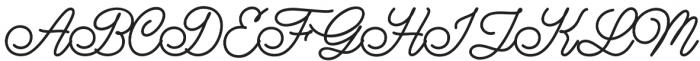 Lazy Ride Script Regular otf (400) Font UPPERCASE