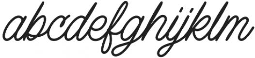 Lazy Ride Script Regular otf (400) Font LOWERCASE
