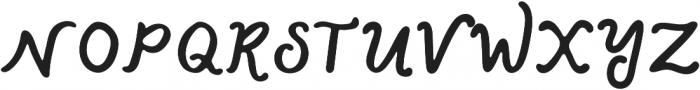 Lazy River Italic otf (400) Font UPPERCASE