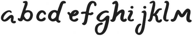 Lazy River Italic otf (400) Font LOWERCASE