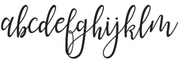 lanara Script otf (400) Font LOWERCASE