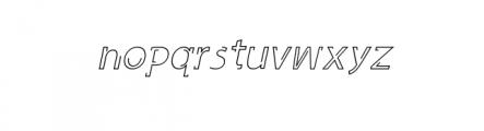 Latina Regular and Italic Font LOWERCASE