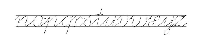 LA El 2 Italic Font LOWERCASE