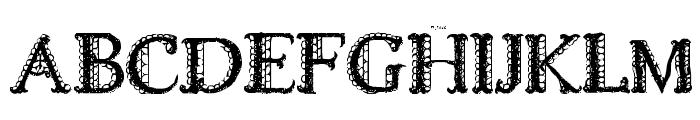 LACETRIM Font UPPERCASE