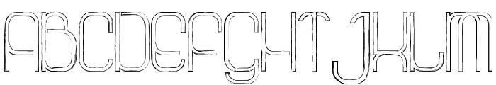 La Grosse Cochonne Defaced Font UPPERCASE