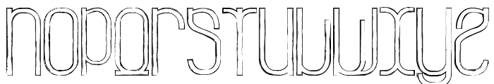 La Grosse Cochonne Defaced Font LOWERCASE