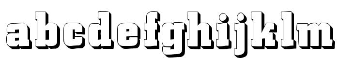 LaCittaShadow Font LOWERCASE