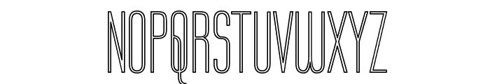 Labtop Outline Font UPPERCASE