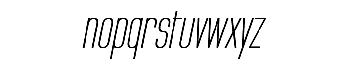 Labtop Secundo Italic Font LOWERCASE
