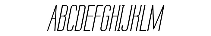 Labtop Unicase Italic Font UPPERCASE