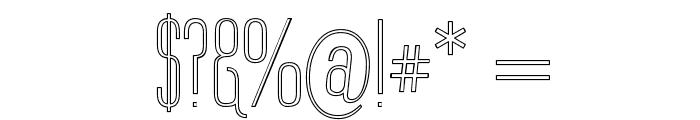 Labtop Upper Outline Font OTHER CHARS