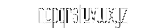 Labtop Upper Outline Font LOWERCASE