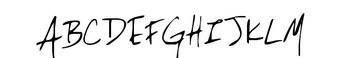 Lackey Font UPPERCASE