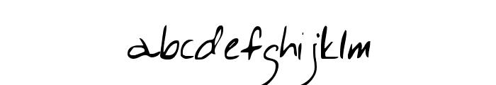 Lackey Font LOWERCASE