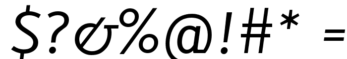 Lacuna Italic Font OTHER CHARS
