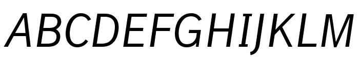 Lacuna Italic Font UPPERCASE