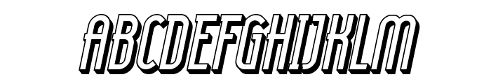 Lady Ice - 3D Italic Font UPPERCASE
