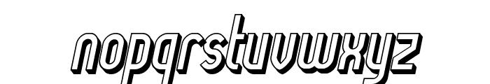 Lady Ice - 3D Italic Font LOWERCASE