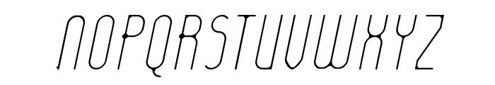 Lady Ice - Extra Light Italic Font UPPERCASE