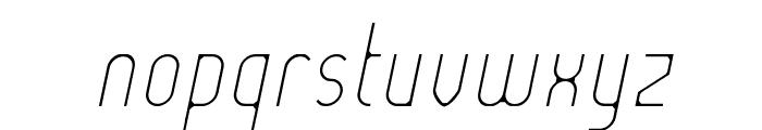 Lady Ice - Extra Light Italic Font LOWERCASE