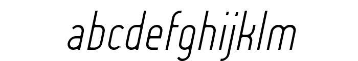 Lady Ice - Light Italic Font LOWERCASE