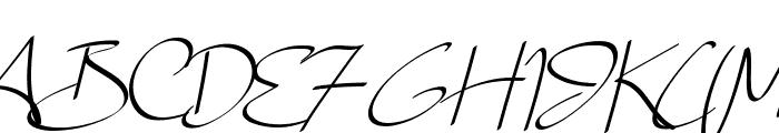 Lady Jasmine Font UPPERCASE