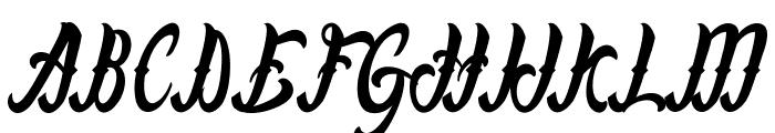 LafayetScripts-Medium Font UPPERCASE