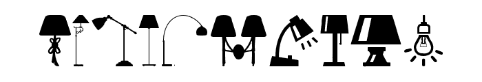 Lamp Font OTHER CHARS