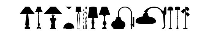 Lamp Font UPPERCASE