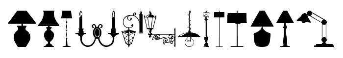 Lamp Font LOWERCASE