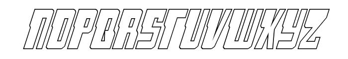 Lamprey Outline Italic Font UPPERCASE