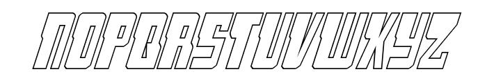 Lamprey Outline Italic Font LOWERCASE