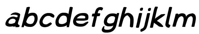 Lampshade Extended Oblique Font LOWERCASE