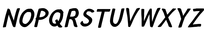 Lampshade Narrow Oblique Font UPPERCASE