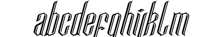 Lancaster Castle Font LOWERCASE