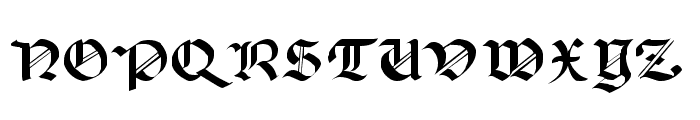 Lancaster Font UPPERCASE