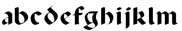 Lancaster Font LOWERCASE