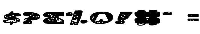 Land Shark Expanded Font OTHER CHARS