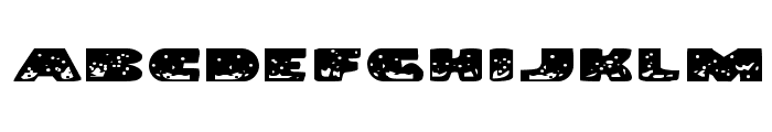 Land Shark Expanded Font LOWERCASE