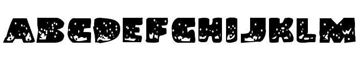 Land Shark Grunge Font UPPERCASE