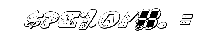 Land Shark Outline Italic Font OTHER CHARS
