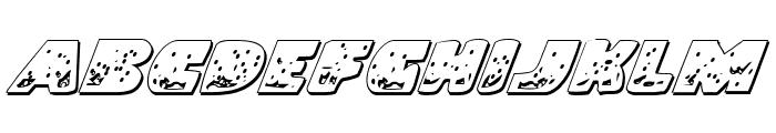 Land Shark Outline Italic Font UPPERCASE