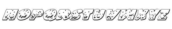 Land Shark Outline Italic Font LOWERCASE