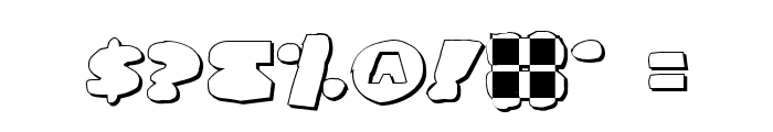 Land Whale Outline Grunge Font OTHER CHARS