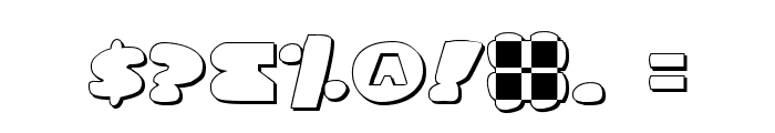 Land Whale Outline Font OTHER CHARS