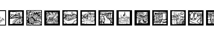 LandAndTownScapes Font UPPERCASE