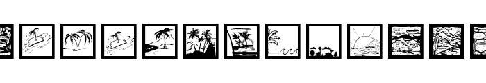 LandAndTownScapes Font LOWERCASE
