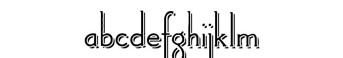 Landsdowne Shadowed Font LOWERCASE