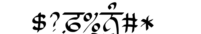 Lanma Script Light Font OTHER CHARS